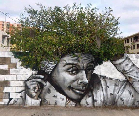 Quand street art et nature se rejoignent !